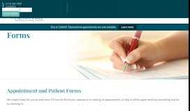 Apointment and Patient Forms for Walnut Hill | Walnut Hill OBGYN
