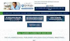 Apologia Online Academy - Online Classes Live