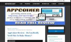 AppCoiner Review – Do You Really Need This To Make ...