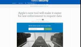 Apple's new tool will make it easier for law enforcement to request data