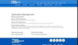 Application Management - Lawrence Technological University