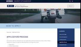 Application Process   Division of Public Safety - UCONN Public Safety