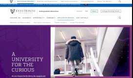 Application Process | Undergraduate Admissions | Johns Hopkins ...