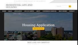 Application - VCU Residential Life & Housing - Virginia ...