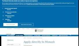 Apply directly to Monash - Admissions - Monash University