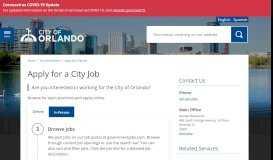 Apply for a City Job - City of Orlando