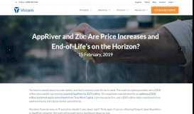 AppRiver and Zix: Are Price Increases and End-of-Life's on the Horizon?
