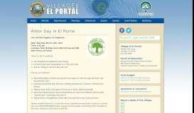 Arbor Day in El Portal - El Portal Village