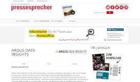 ARGUS DATA INSIGHTS | Magazin pressesprecher