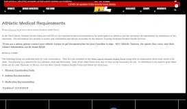 Athletic Medical Requirements - West Liberty University Athletics