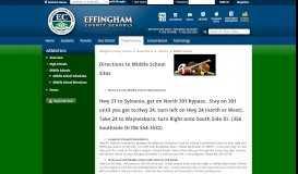Athletics / Middle School Directions - effinghamschools.com