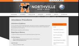 Attendance Procedures - Miscellaneous - Northville High School