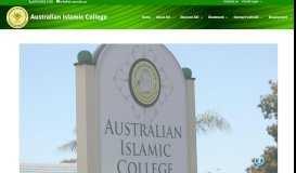 Australian Islamic College: Home