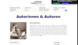 Autorinnen & Autoren - Literaturportal Bayern