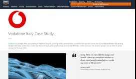 AWS Case Study: Vodafone Italy - Amazon Web Services