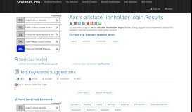 Axcis allstate lienholder login Results For Websites Listing