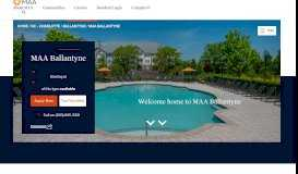 Ballantyne Apartments Charlotte: Post Ballantyne   MAA
