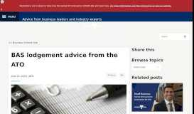 BAS lodgement advice from the ATO - Business Victoria Hub