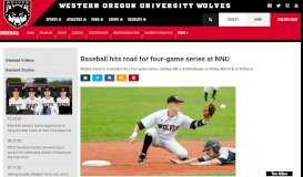 Baseball hits road for four-game series at NNU - Western Oregon ...
