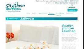 Bathroom Range - City Linen Services