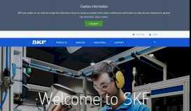 Bearings, Seals, Lubrication, Mechatronics & Services   SKF Group