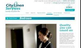 Bedroom Linen Range - City Linen Services