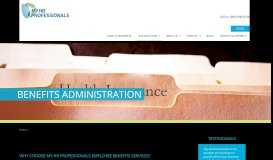Benefits Administration | My HR Professionals | Payroll ...