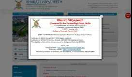 Bharati Vidyapeeth Deemed University Pune, India's Best Private ...