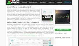 BinaryOnline Trading Platform | Trade and enjoy profits!