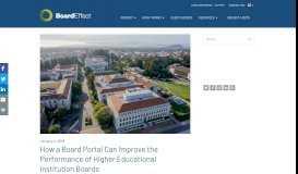 Board Portals: Improving Higher Education Boards   BoardEffect