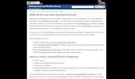 Braille and Audio Reading Download (BARD): Talking Book ...