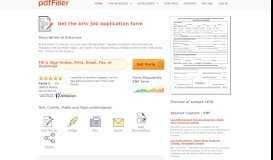 Brtc Job Application Form - Fill Online, Printable, Fillable, Blank ...