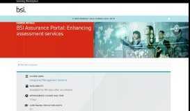 BSI Training - BSI Assurance Portal - BSI Learn Central