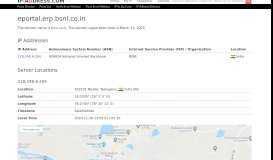 Bsnl.co.in - eportal.erp.bsnl.co.in Website Information - IP-Adress.com