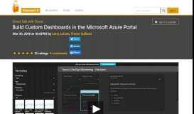 Build Custom Dashboards in the Microsoft Azure Portal | Cloud Talk ...