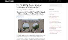 BUK Portal 2020: (Student, Admission, Postgraduate ...