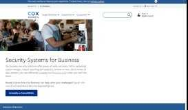 Business Security Solutions | Integrated Security Systems - Cox