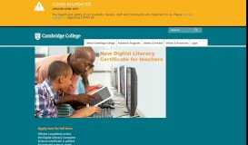 Cambridge College: Higher Education for Adult Learners