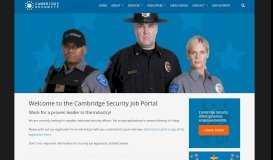 Cambridge Security Services » Security Job Portal