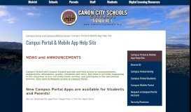 Campus Portal & Mobile App Help Site - Canon City Schools