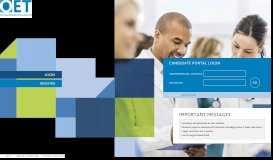 Candidate portal - Apply for the Test - myoet.com