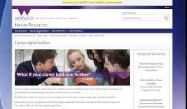 Career opportunities - University of Warwick