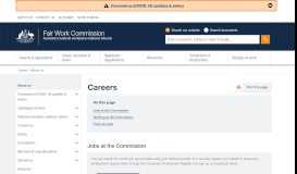 Careers   FWC Main Site - Fair Work Commission