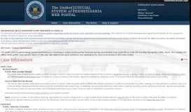 Case Information - Pennsylvania's Unified Judicial System - Unified ...