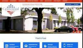 Centennial School District: Home
