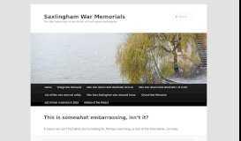 Cf login - Saxlingham War Memorials