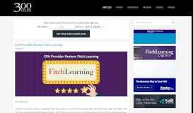 CFA Provider Review: Fitch Learning - 300 Hours: Your Guide to the ...