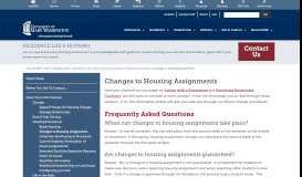 Changes to Housing Assignments » Residence Life