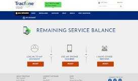 Check Remaining Service Balance   Tracfone Wireless