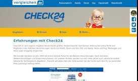 Check24 - Erfahrungen, Tests und Kundenmeinungen - Vergleichen.de